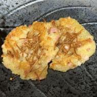 新ジャガエノキパウダーパンケーキ風と乾燥エノキ